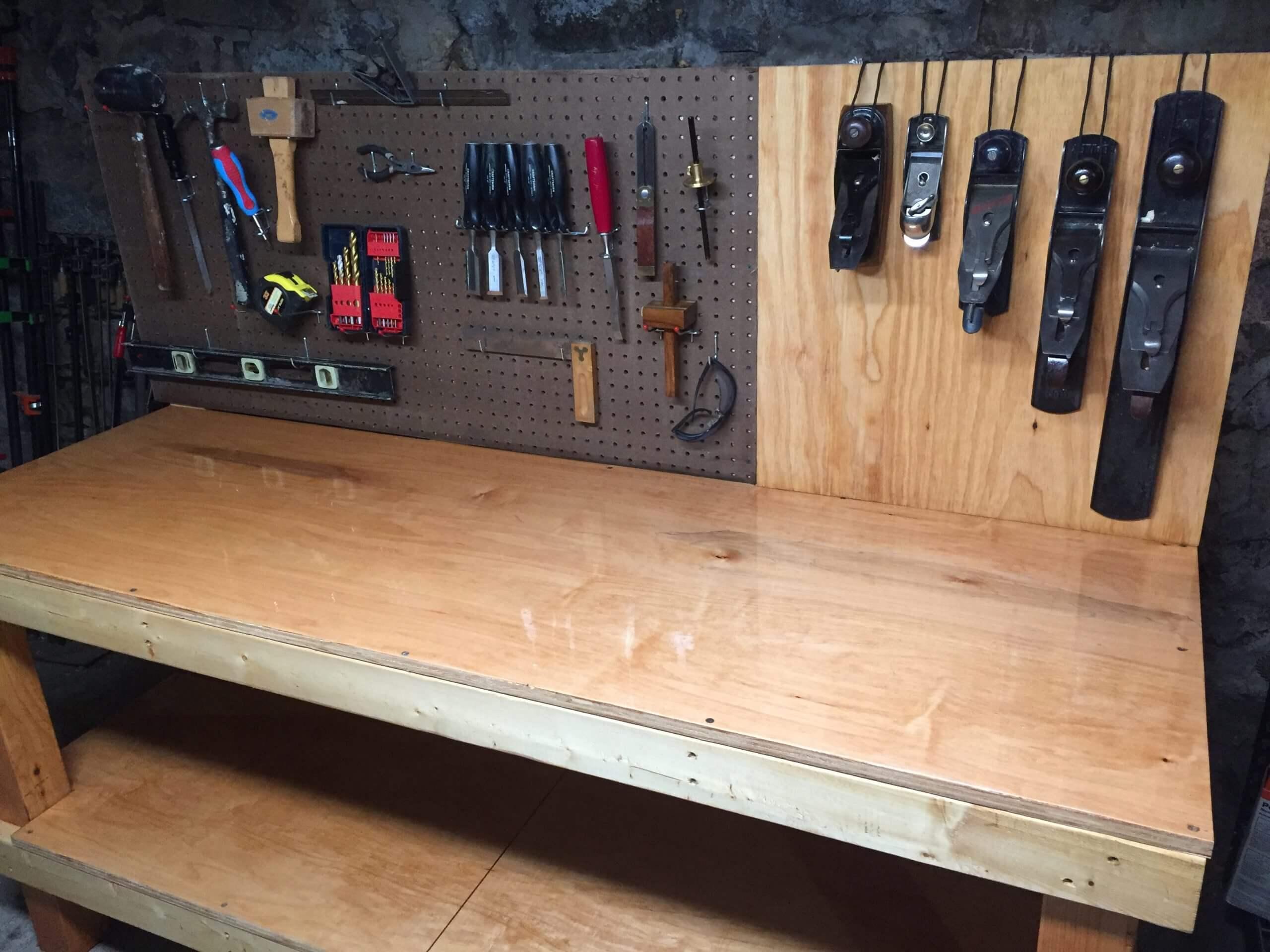 Складной стол в гараж своими руками 25