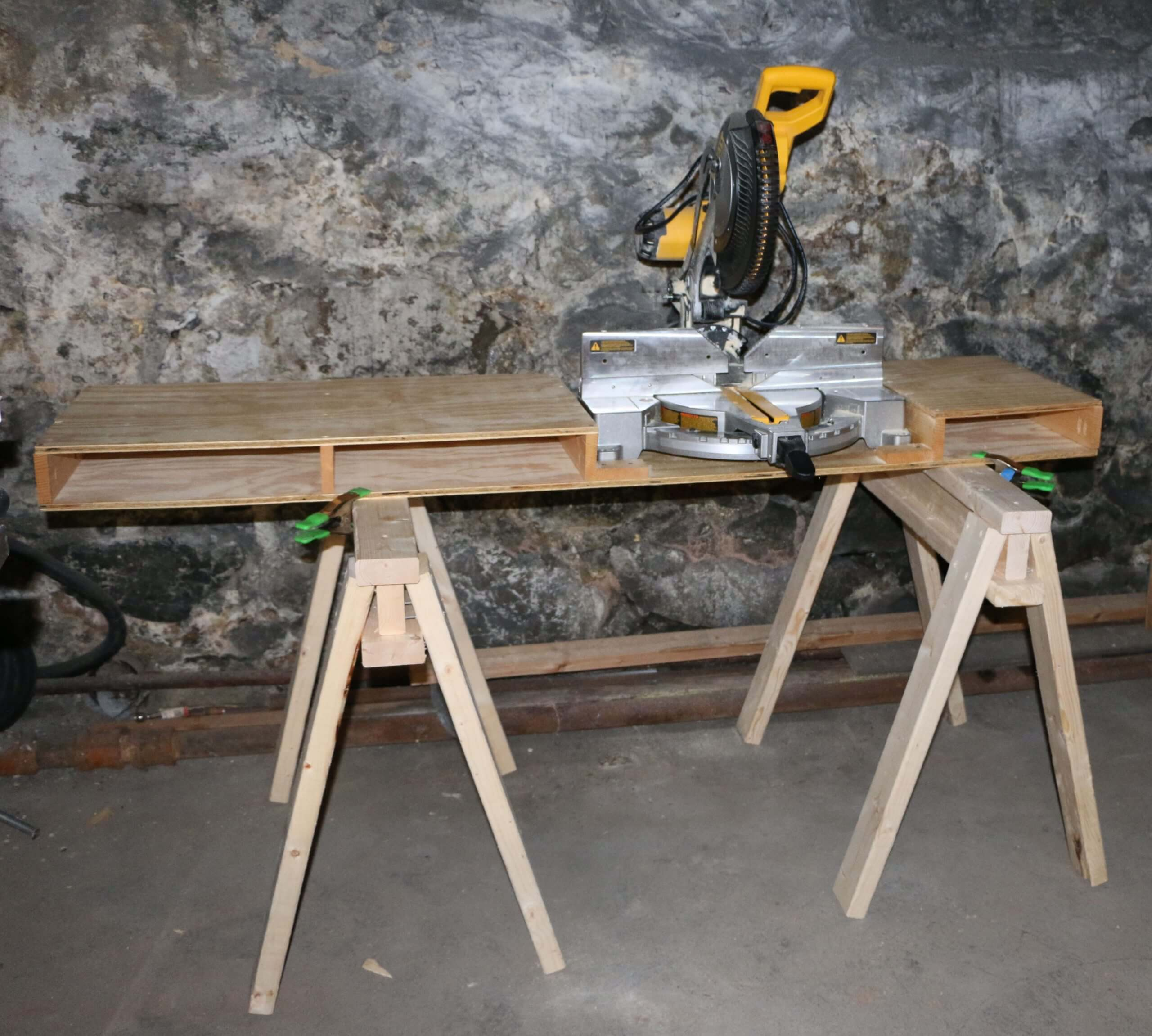 How To Make A Portable Miter Saw Table Jeff S Diy Projects